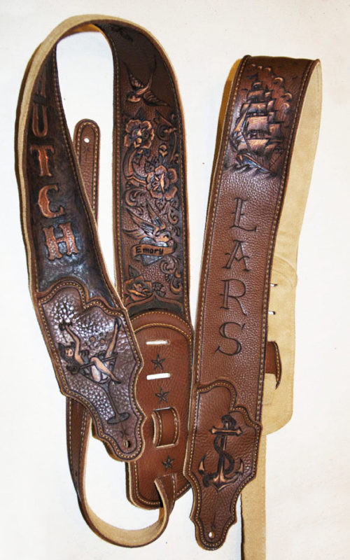 BurnWizard Sailor Tattoo Guitar Straps