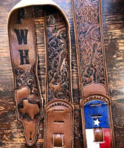 Burnwizard country western music guitar strap Texas guitar cowboy
