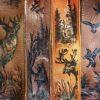 Burnwizard nature woodland scene hunt custom guitar strap moose deer duck bear