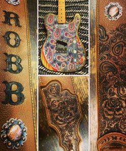 burnwizard_paisley_custom_guitar_strap_western_scrollwork_concho