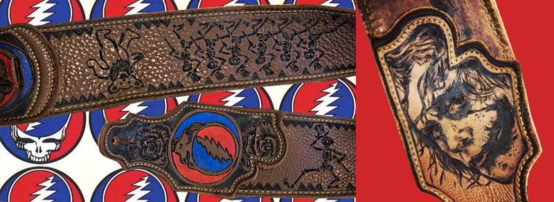 BurnWIzard fan art joker grateful dead guitar strap