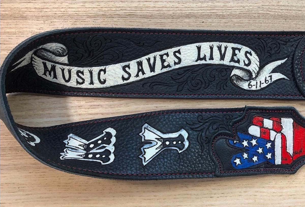 music saves lives american flag peace hand